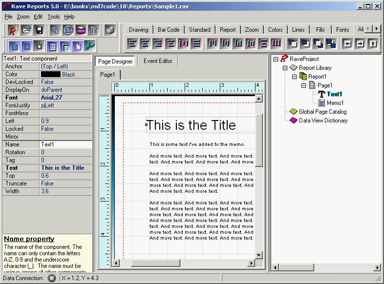 Установить на форму отчета компонент - qrsubdetail с закладки qreport