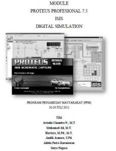 Modul Simulasi Rangkaian Elektronika dengan Proteus 7.5